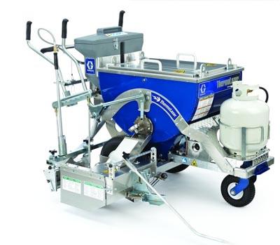 Graco ThermoLazer 300TC: ručně tlačený stroj pro pokládku horkých plastů