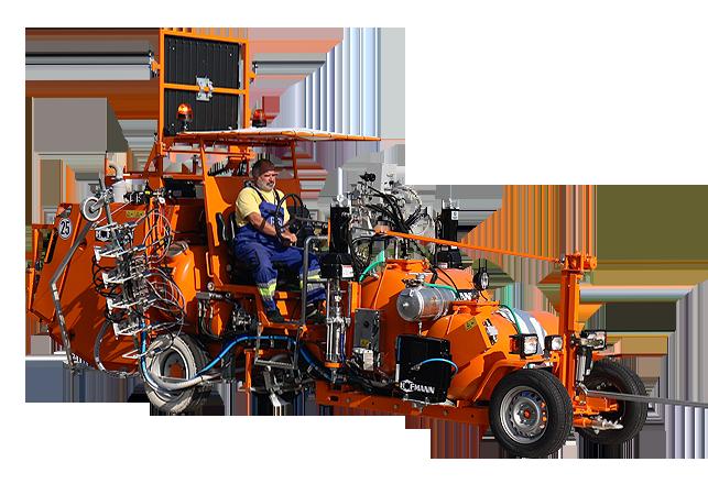 Hofmann H33: silniční značkovací stroj pro velký rozsah značkovacích prací